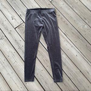 Nordstrom Charcoal Gray Velvet Leggings